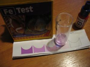 Тест воды на общее содержание железа